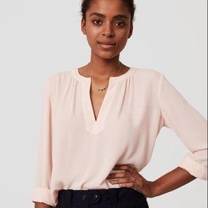 NWT LOFT light pink long sleeve blouse